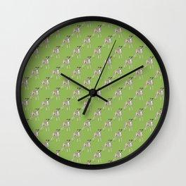 Whippet Love2 Wall Clock