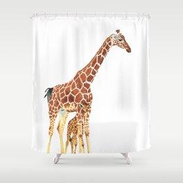 Giraffe Art - A Mother's Love - By Sharon Cummings Shower Curtain