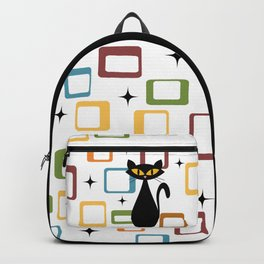 Mid Century black cat Backpack