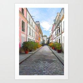 Rue Cremieux in Paris Art Print