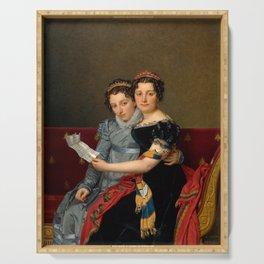 "Jacques-Louis David ""The Sisters Zénaïde and Charlotte Bonaparte"" Serving Tray"