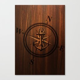 Wooden Anchor Canvas Print