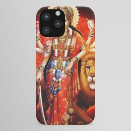Hindu Durga 8 iPhone Case