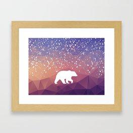 Beary Snowy in Purple Framed Art Print