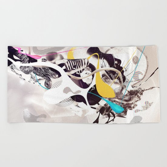 Surreal Abstract #paint Beach Towel