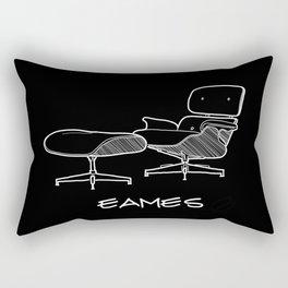Mid-century - Eames Lounge Chair Sketch (WN) Rectangular Pillow