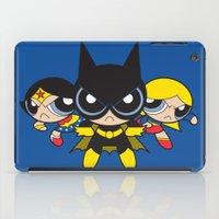 powerpuff girls iPad Cases featuring Supertough Girls by Mandrie