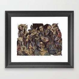Dark Bloom Framed Art Print