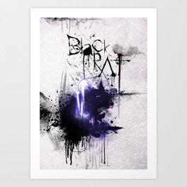 Black Rat (violet) Art Print