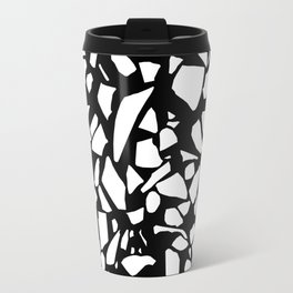 Terrazzo White on Black Travel Mug