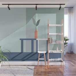 Minimalistic Room Graphic With Flower Wall Mural
