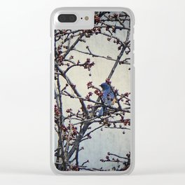 the bluebird and the cherry tree Clear iPhone Case