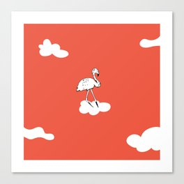 Flying Flamingo by McKenna Sanderson Canvas Print