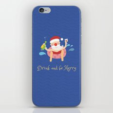 Day 04/25 Advent - Drink & be merry iPhone & iPod Skin