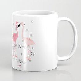 Loving flamingos and flowers Coffee Mug