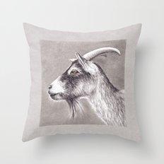 Little goat Throw Pillow