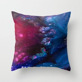 Oceans and Nebulas Throw Pillow