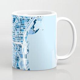 Milwaukee Wisconsin City Map Coffee Mug