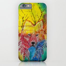 Dream Time Wolf iPhone Case