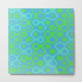 Brain Coral Green Banded - Coral Ree Series 020 Metal Print