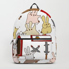 Every bunny was kung fu fighting Backpack