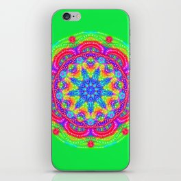 Amazing Day Neon Mandala iPhone Skin