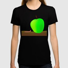 Worm And Big Apple T-shirt
