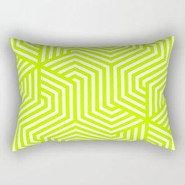 Bitter lime - green - Minimal Vector Seamless Pattern Rectangular Pillow
