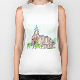 University of Dayton watercolor, UD Chapel, Dayton, OH Biker Tank