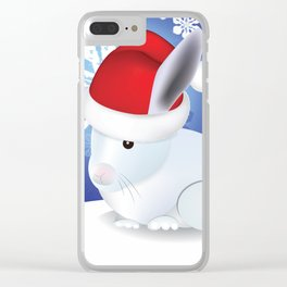 Ze Christmas bunneh Clear iPhone Case