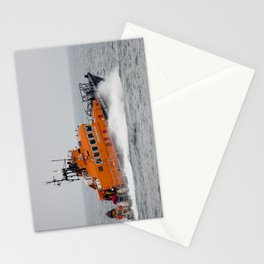 Lifeboat in action Stationery Cards