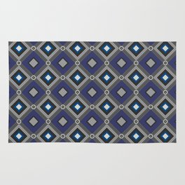 Vintage Quilted Patchwork Retro Geometric Seamless Pattern Rug