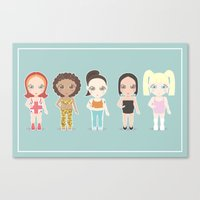 spice girls Canvas Prints featuring Spice Girls by Ricky Kwong