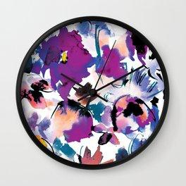 Sara Floral Blue Wall Clock
