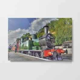 Steam Train at Bewdley Metal Print