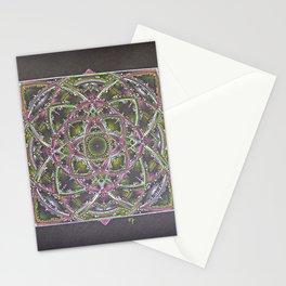Green and Purple Mandala Stationery Cards