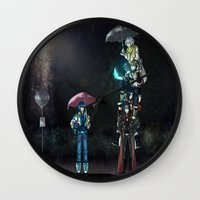 dramatical murder Wall Clocks featuring Dramatical Murder - My Neighbors... by Lalasosu2