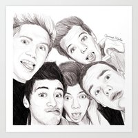 1d Art Prints featuring 1D Selfie by Coconut Wishes