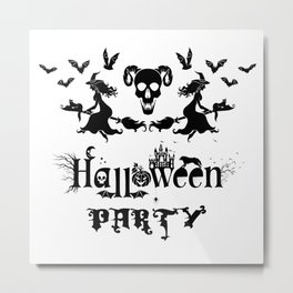Happy Halloween Party -  Perfect gift idea for everyone on Halloween Holiday. Metal Print