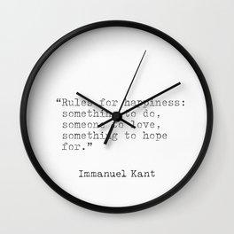 Immanuel Kant quotes Wall Clock
