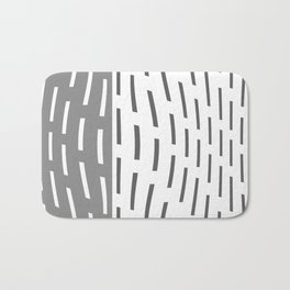 Pattern In Gray And Whte Bath Mat