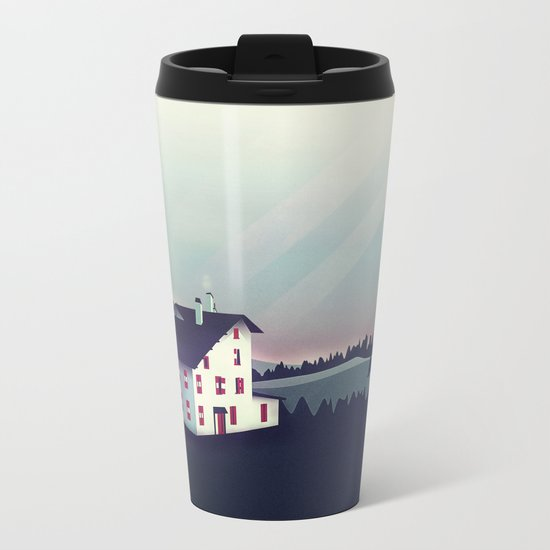 Castle in the Mountains Metal Travel Mug