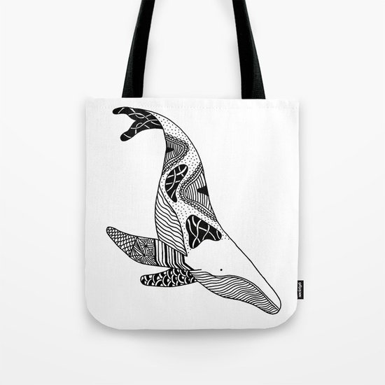 Patchwork Whale Tote Bag