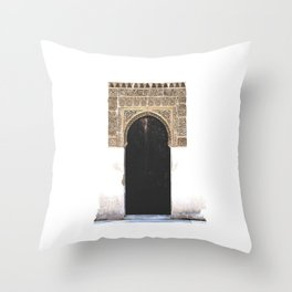 Alhambra Door Throw Pillow