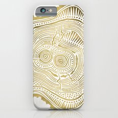 Peachleaf Willow – Gold Tree Rings iPhone 6s Slim Case