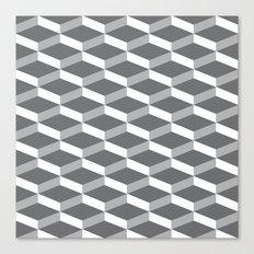 3D charcoal Canvas Print