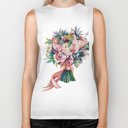 Wedding bouquet Biker Tank