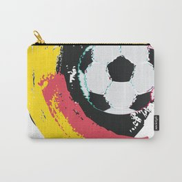 Football ball and red, yellow strokes Carry-All Pouch