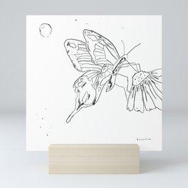 Butterfly Flower Mini Art Print