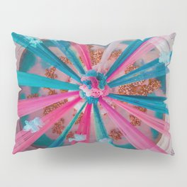Blue and Pink Ribbon (Color) Pillow Sham
